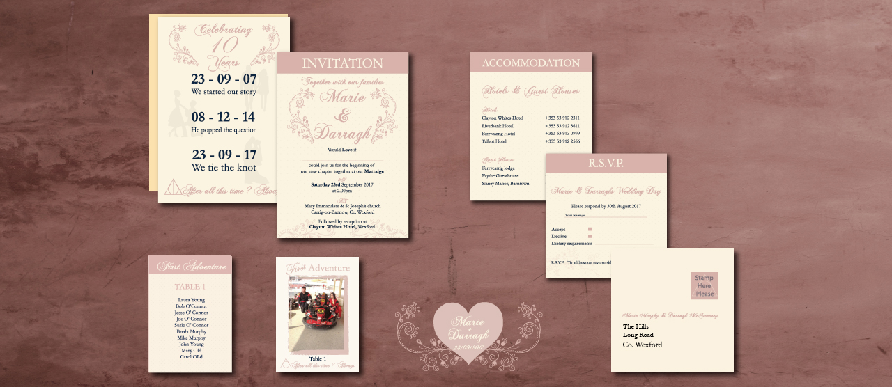 wexford graphic design | wedding